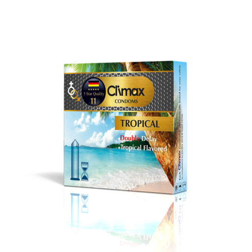 کاندوم 3 عددی CLIMAX مدل Tropical