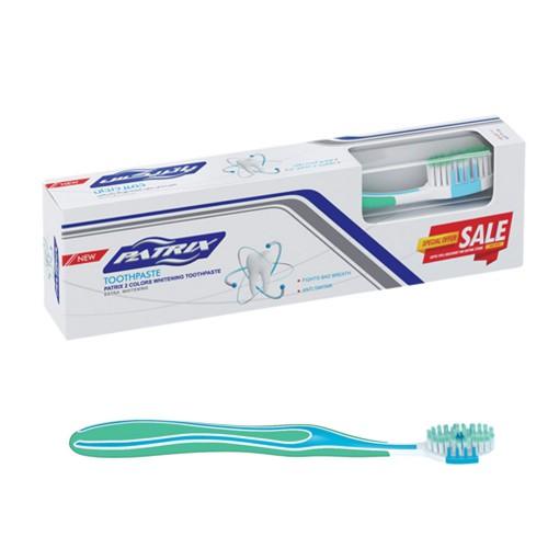 پک مسواک و خمیر دندان سفید کننده ۱۳۰ گرمی Patrix