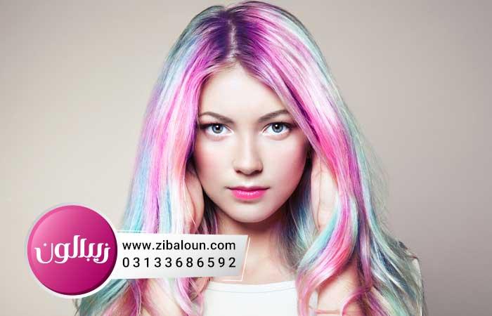رنگ مو دخترانه فانتزی