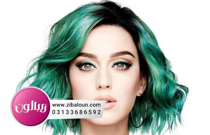 رنگو مو دخترانه سبز