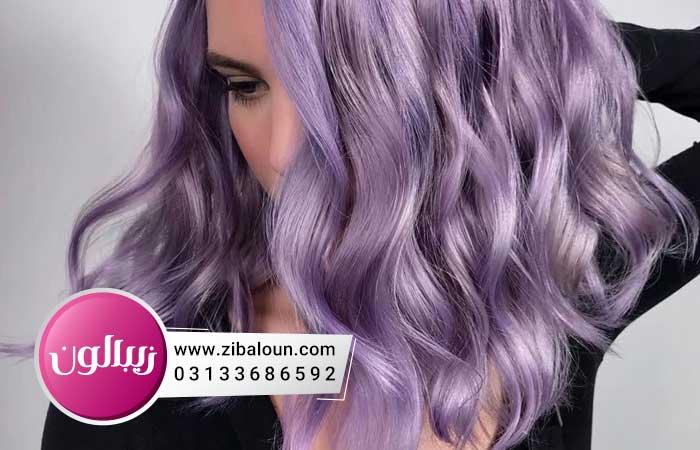 رنگ مو دخترانه بنفش