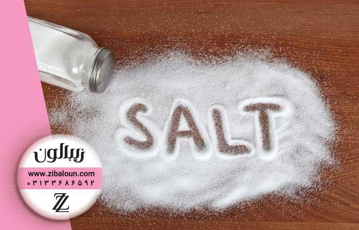 درمان شوره سر با نمک